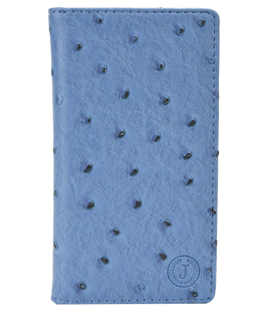 Jo Jo Flip Cover with Stand For Spice Mi-549 - Blue