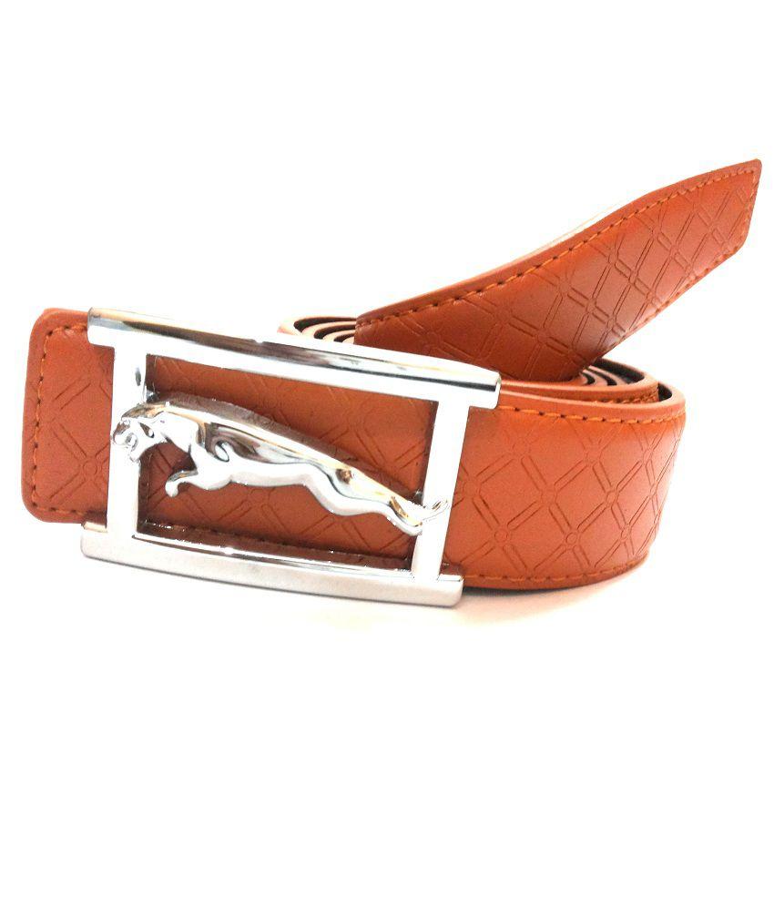 Mode Brown Leather Casual Autolock Buckle Belt