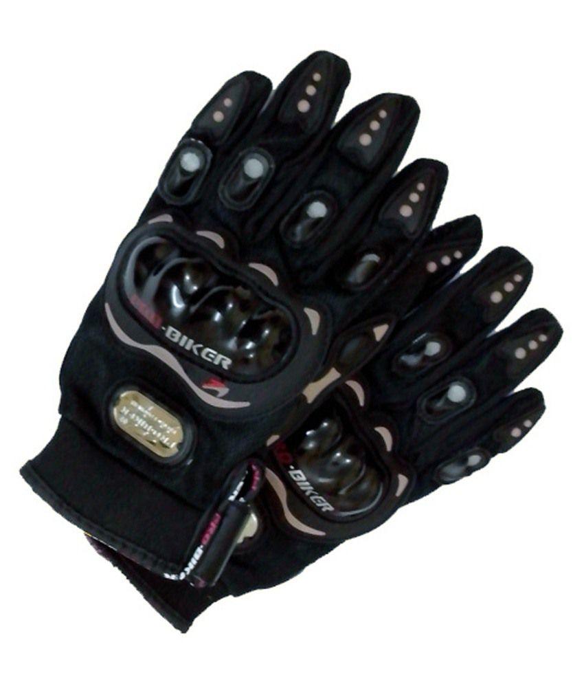 Motorcycle gloves bangalore - 46 Off On Pro Biker Black Motorcycle Riding Gloves