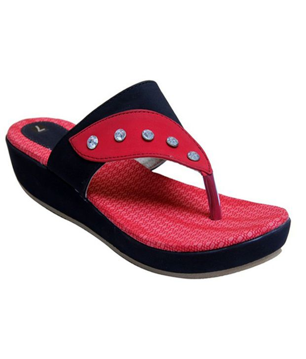 Stefino Black Flip Flops