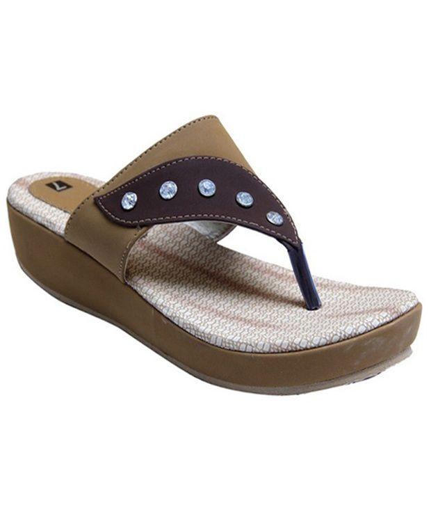 Stefino Brown Flip Flops