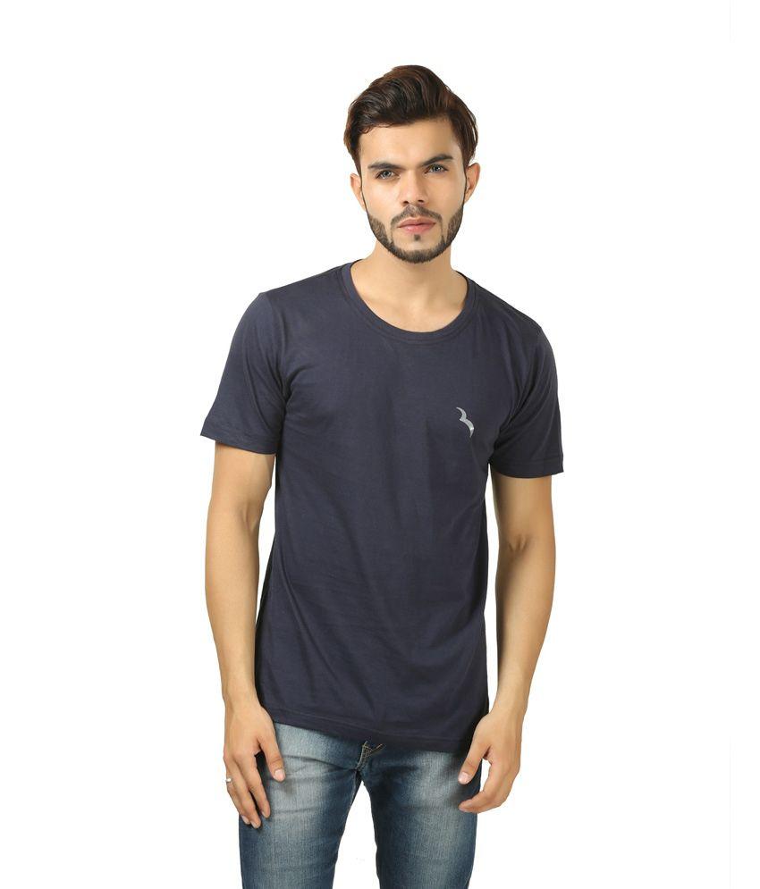 Brownbird Navy Cotton T-shirt