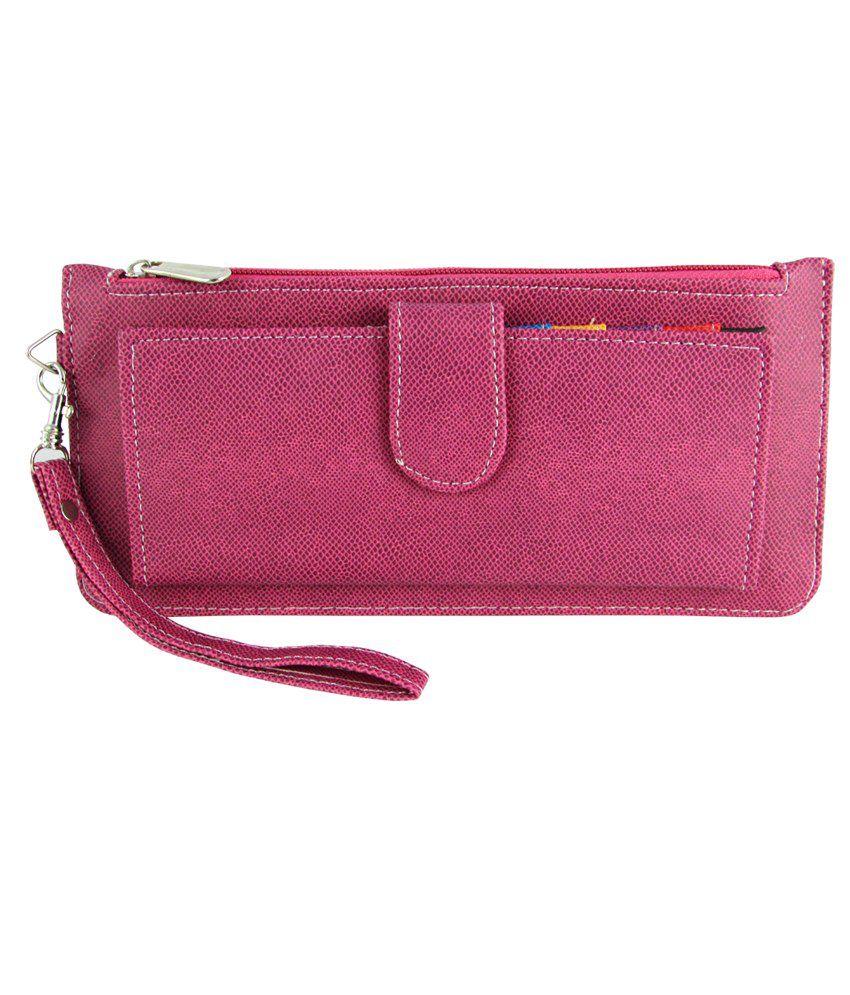 Deeon Pink Card Holder Wallet Clutch