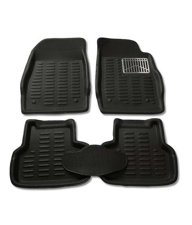 Autokraftz Premium 3d Car Foot Mat For Hyundai Creta Black