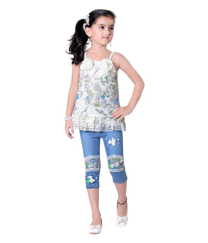 Jazzup Multicolour Top And Jeans For Girls - Buy Jazzup ...