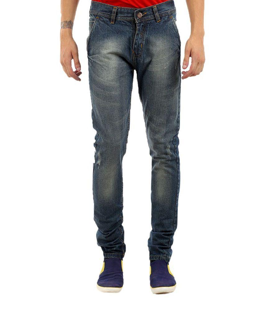 K-San Blue Slim Fit Jeans With Rakhi