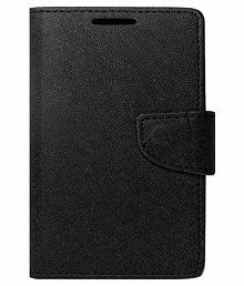 Synthetic Leather Case For Samsung Galaxy A8 Black Able Vertical Flip Case