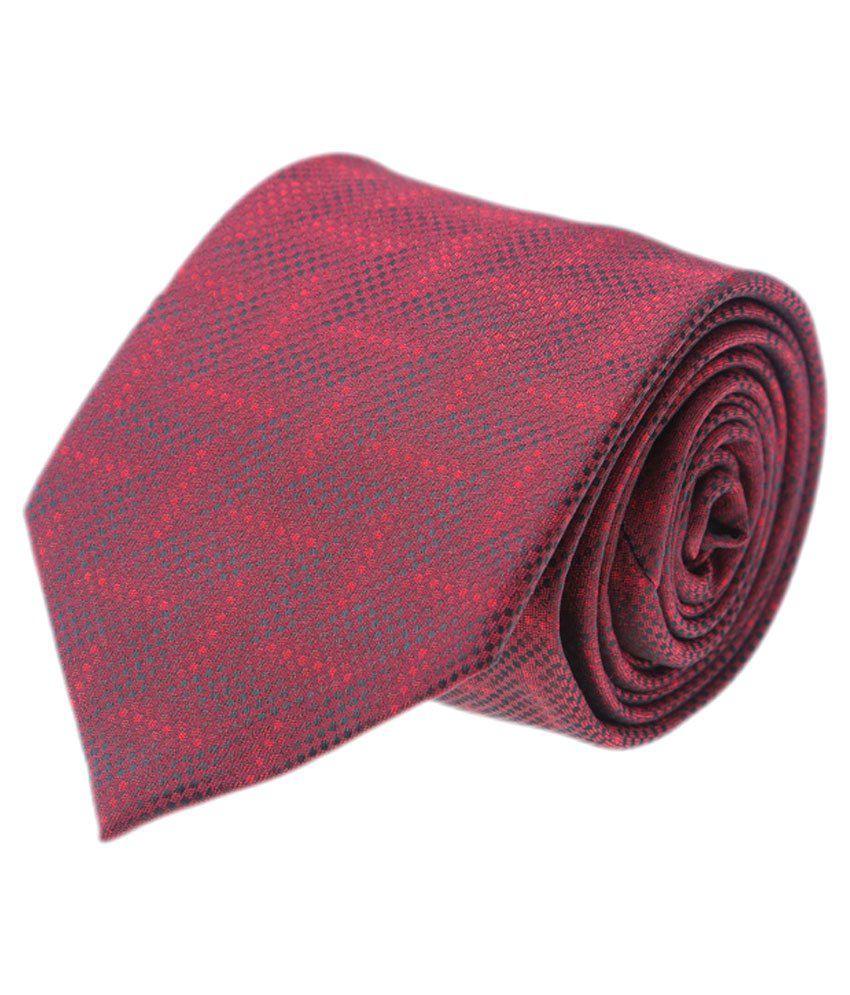 CooLife Maroon Formal Necktie