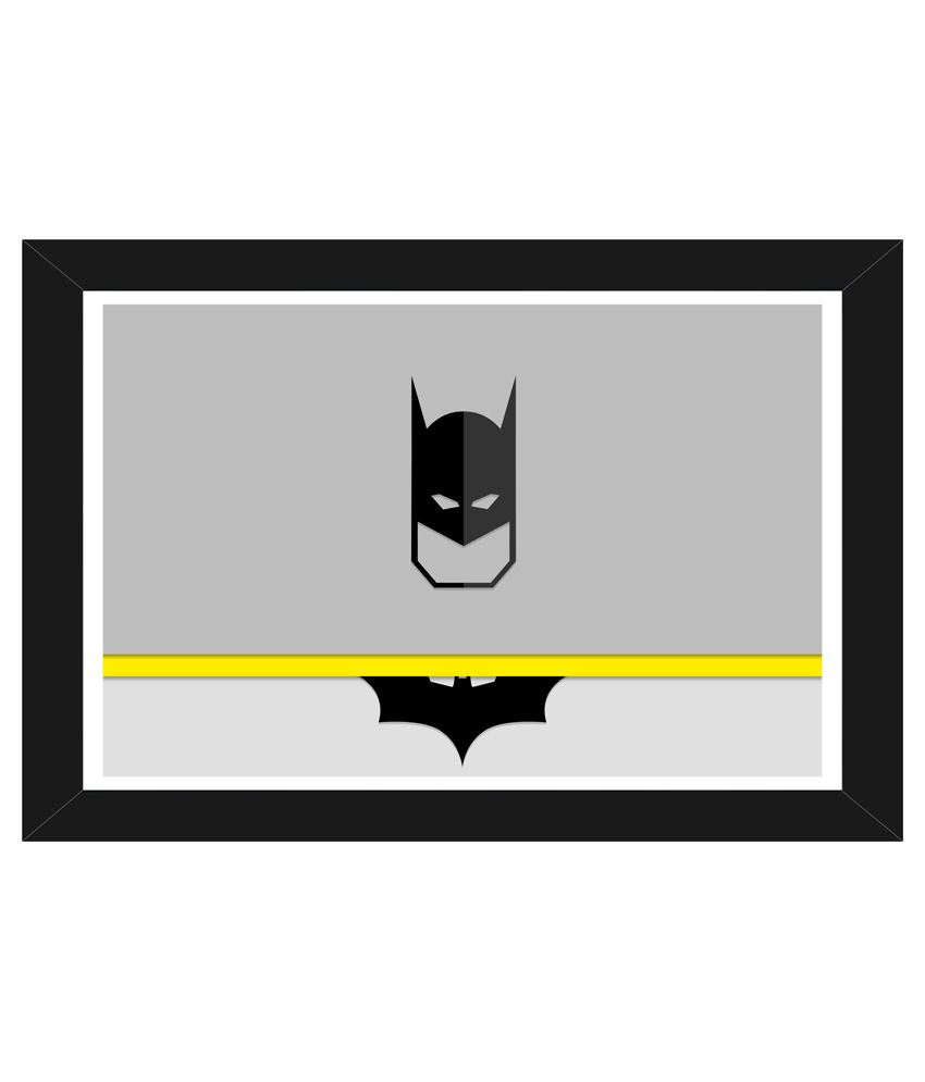 Trophydeal The Batman Mask Hd Matte Poster With Wooden Frame: Buy ...