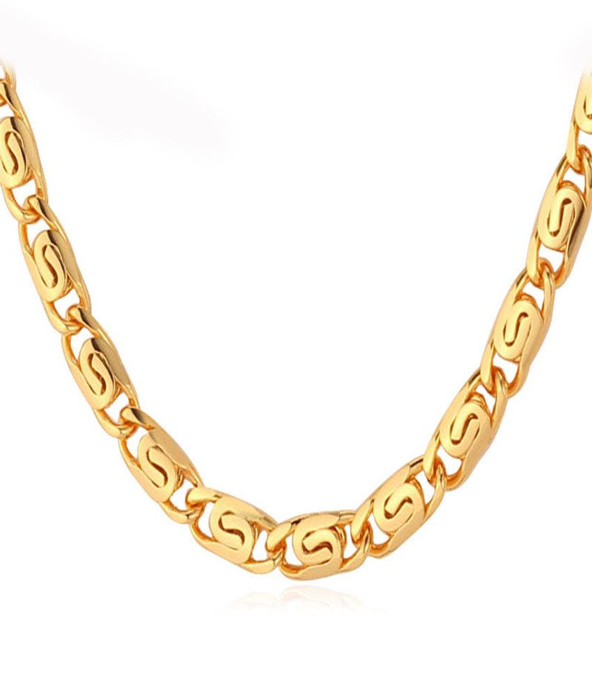 e9fed54de Anvi jewellers nilesh71 Golden Chain - Best Price in India | priceiq.in