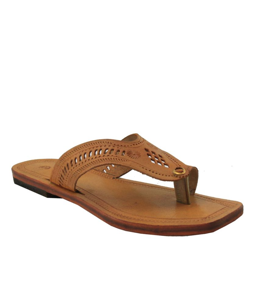 Jstarmart Brown Flat Slip-Ons