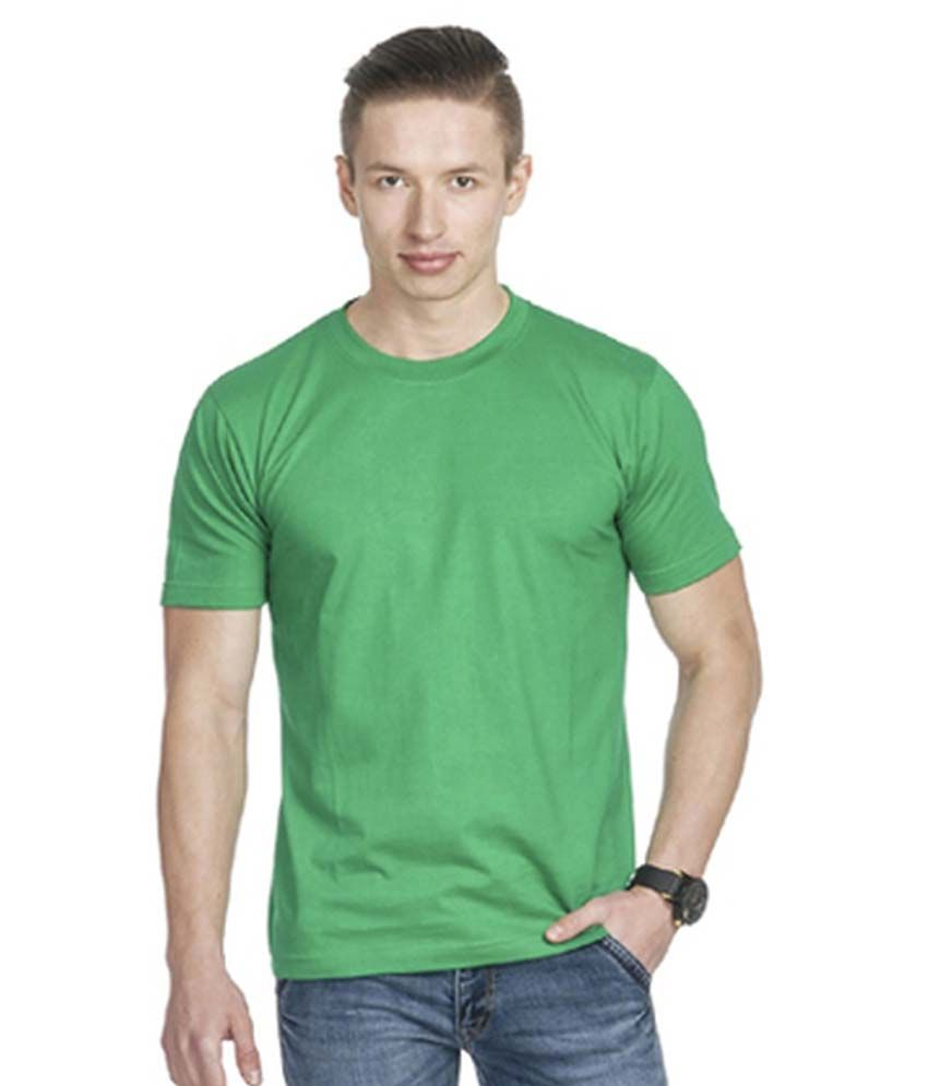 Perfect 10 Green Cotton Blend Round Neck T Shirt
