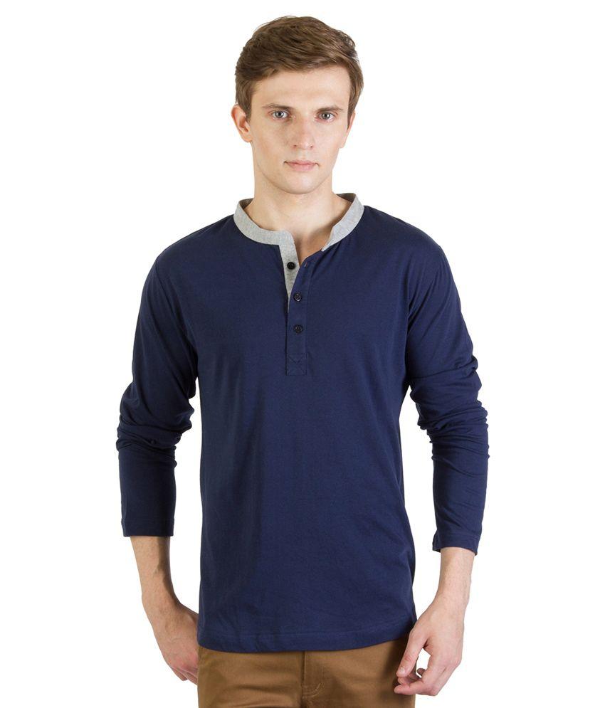 Rigo Navy Cotton T - Shirt