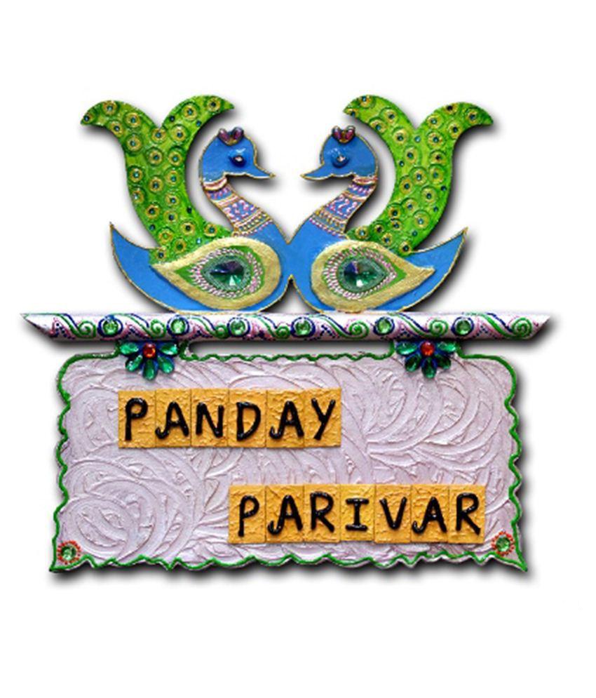 7ocean Black Green Handmade Wooden Swan Pair Name Plate