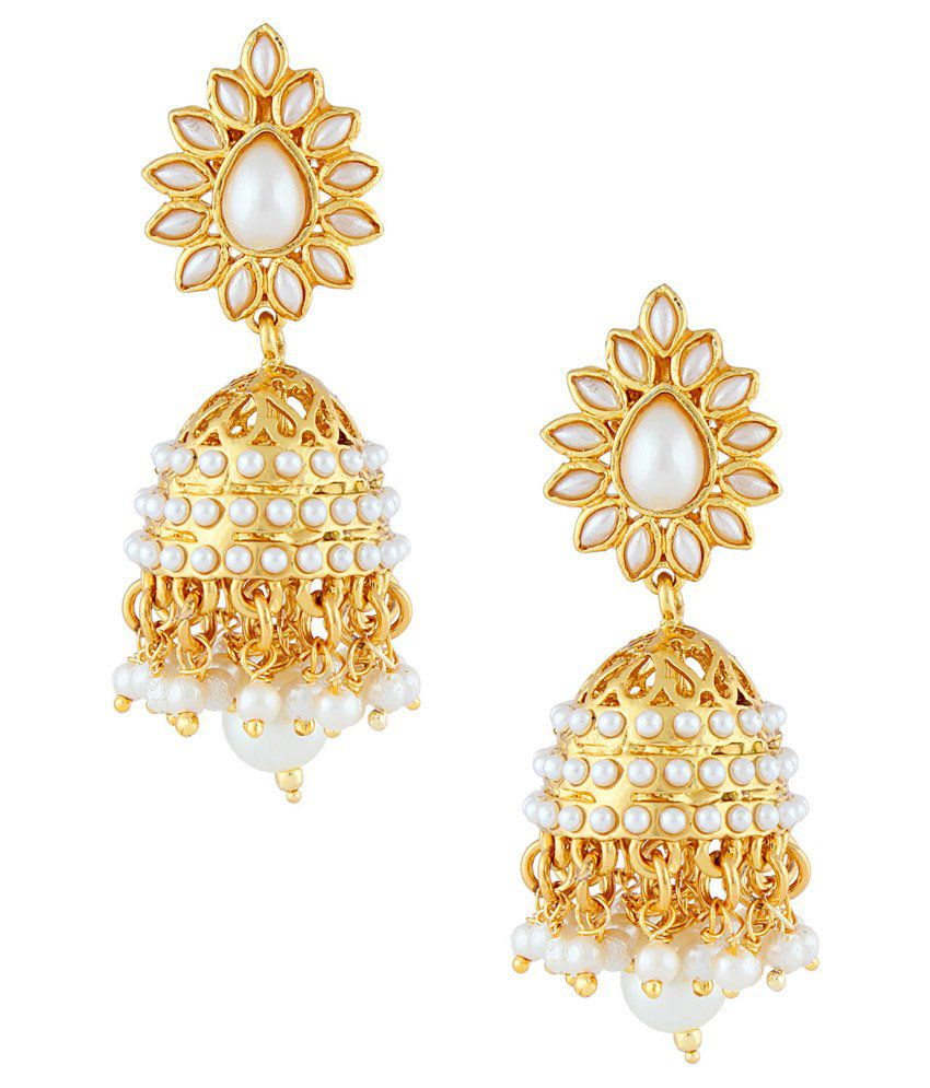 Gold & More Golden Copper Jhumki Earrings