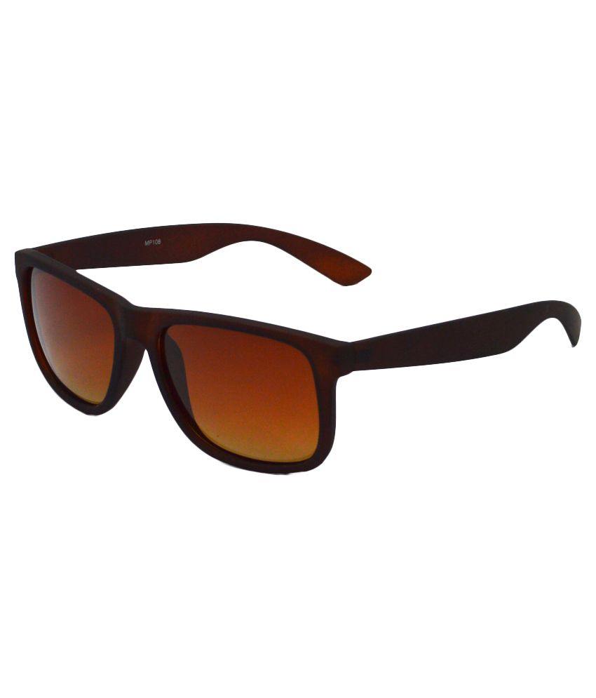 Red Knot Brown Rectangle Sunglasses