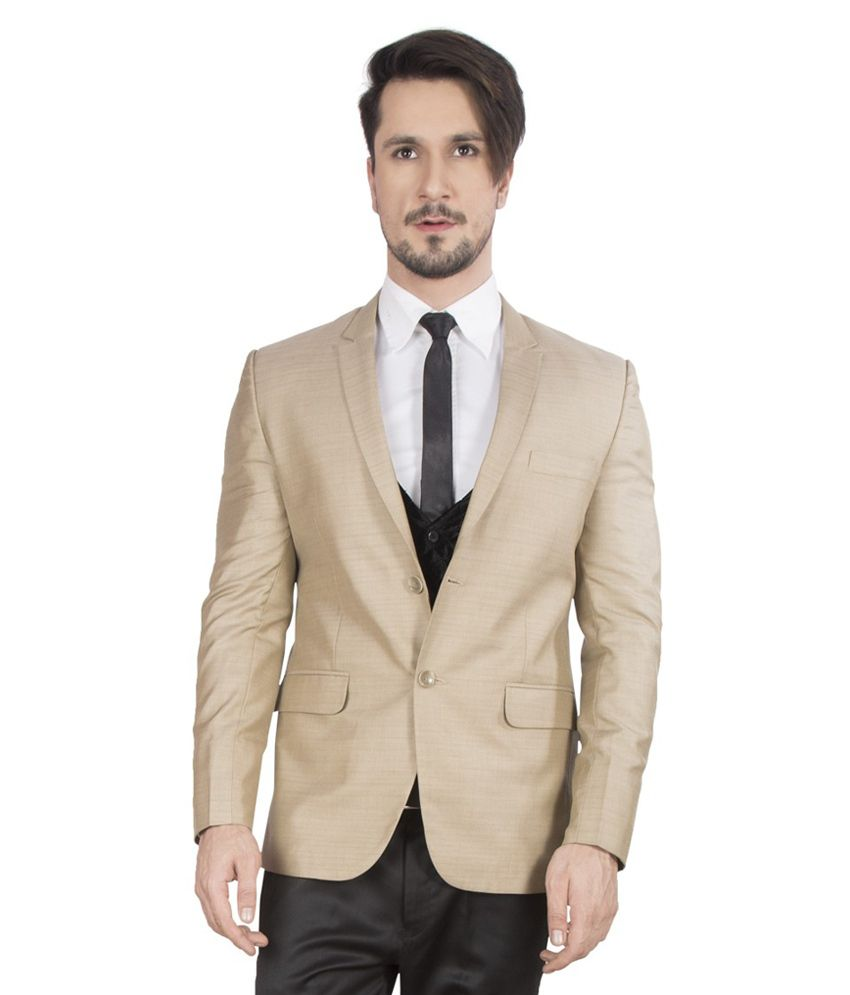 Dheeraj Sharma Beige Cotton Blend Blazer