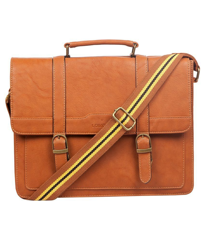 Lomond Tan Laptop Bag for Men