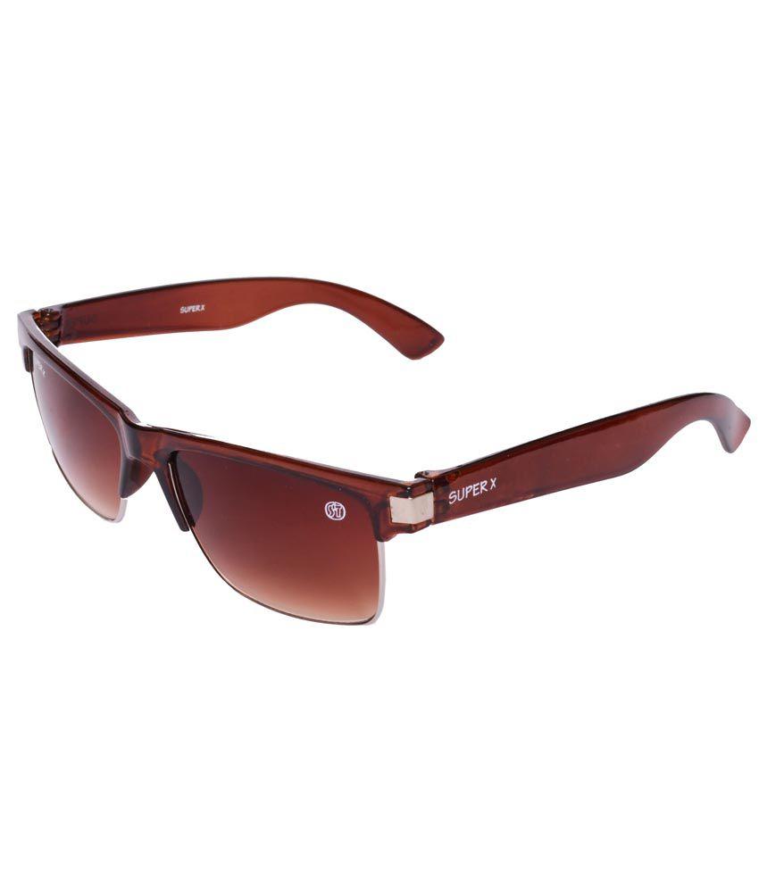 Super-X SX-KM-002 Brown Rectangle Sunglass For Men
