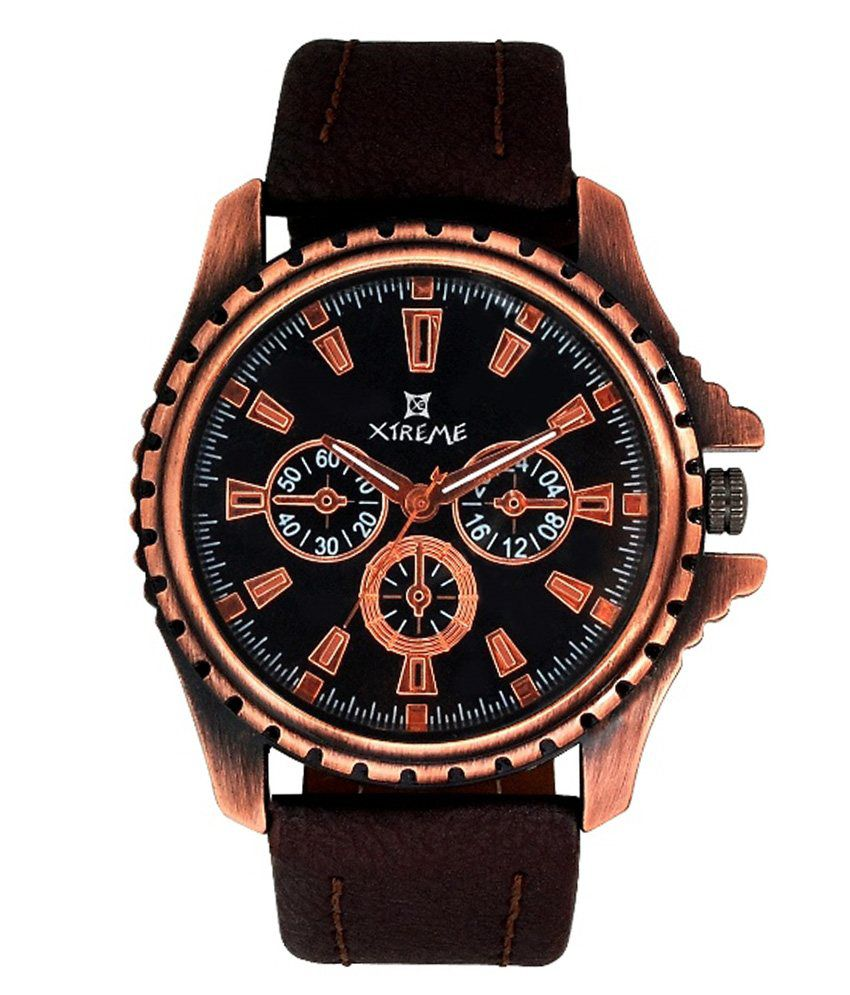 Xtreme Black Analog Round Casual Watch