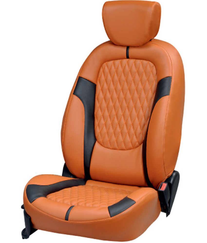 Elaxa Orange Car Seat Covers For Maruti Wagonr Buy Elaxa