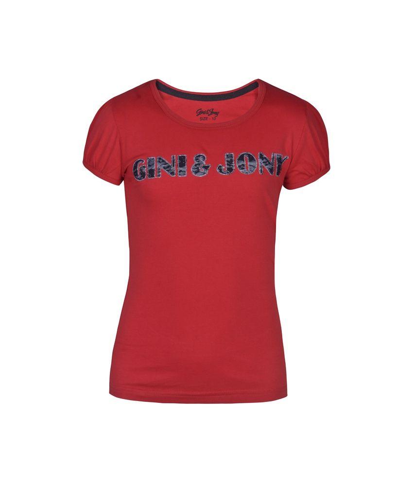 Gini & Jony Knits Top Half Sleeves For Kids
