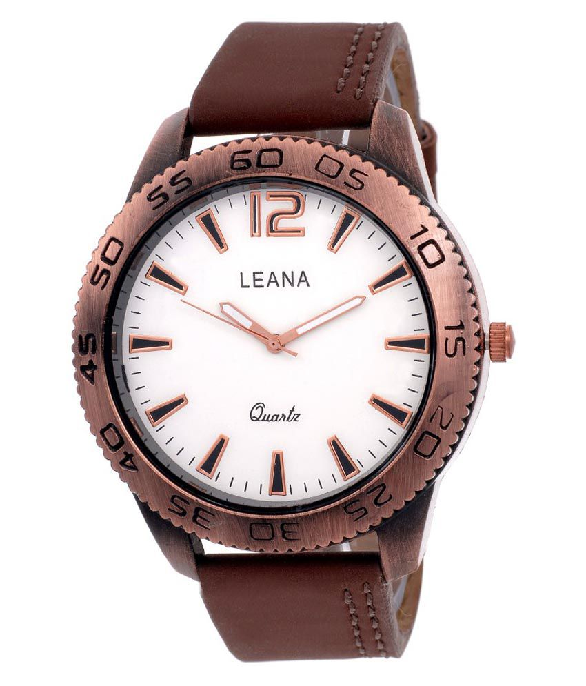 Leana Brown Wrist Watch