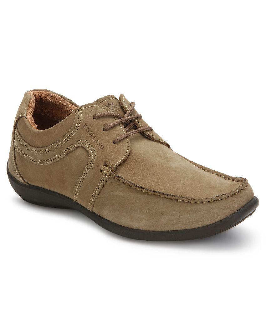 Buy Woodland Khaki Casual Shoes Art
