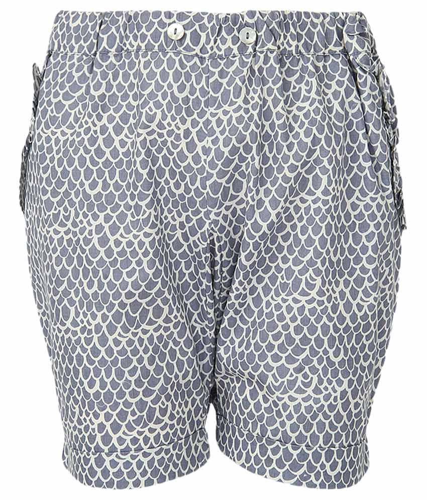Milk Copenhagen Blue Printed Shorts