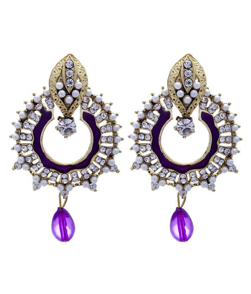 Silverkartz White Alloy Hanging| Dangle Earrings