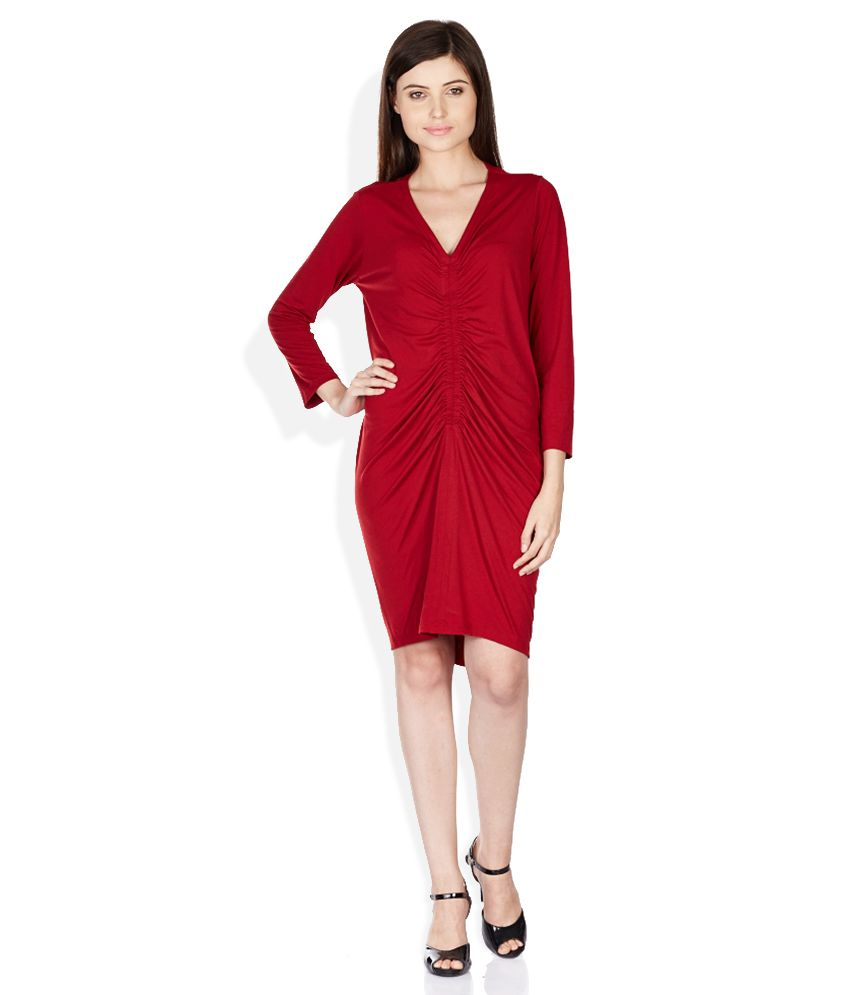 7cdd5d74fe1 Chm 8902518596445 Chemistry Red Dress - Best Price in India ...