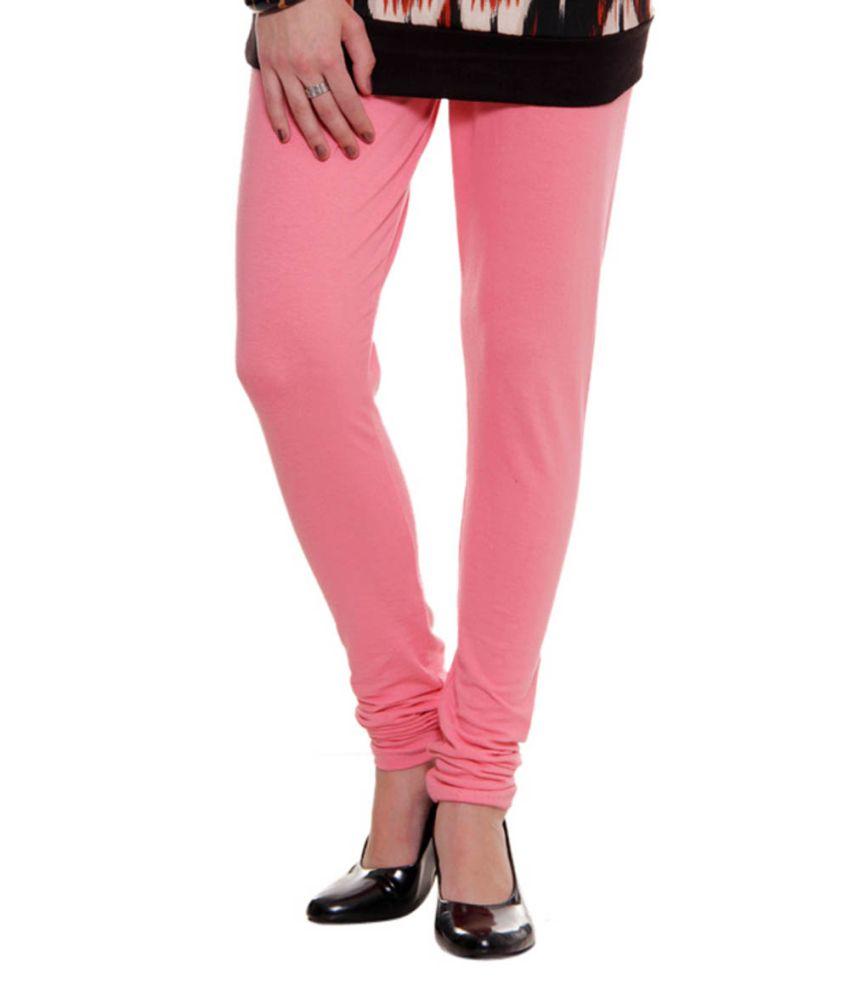 Fashion Arcade Pink Cotton Leggings