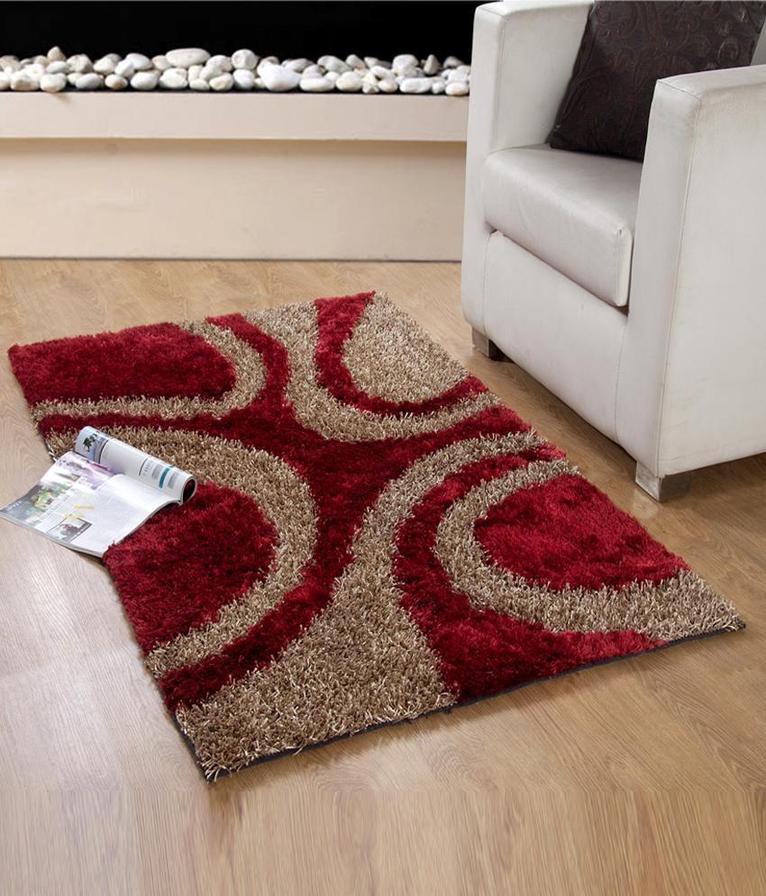 Looop Attractive Maroon Contemporary Shaggy Carpet 4x6 Ft. - Buy Looop  Attractive Maroon Contemporary Shaggy Carpet 4x6 Ft. Online at Low Price -  Snapdeal