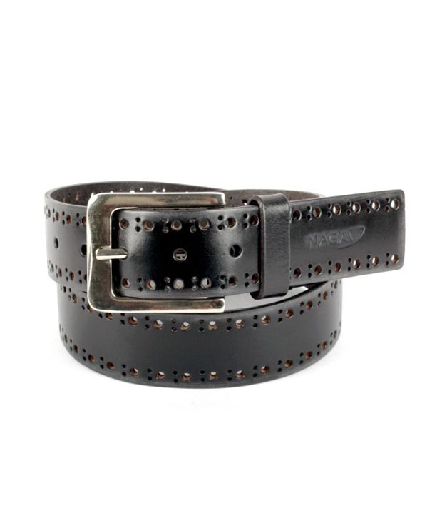 Naga Black Leather Casual For Men