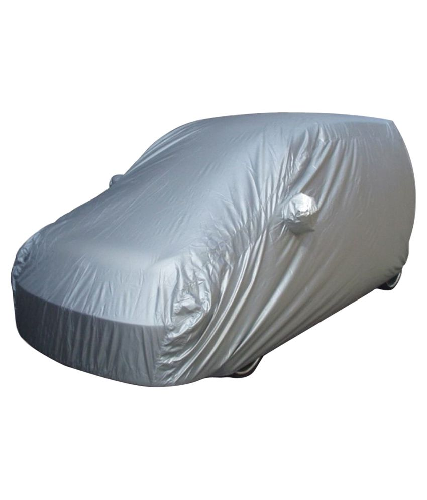 Alexus Grey Polyester Car Cover For Fiat Punto
