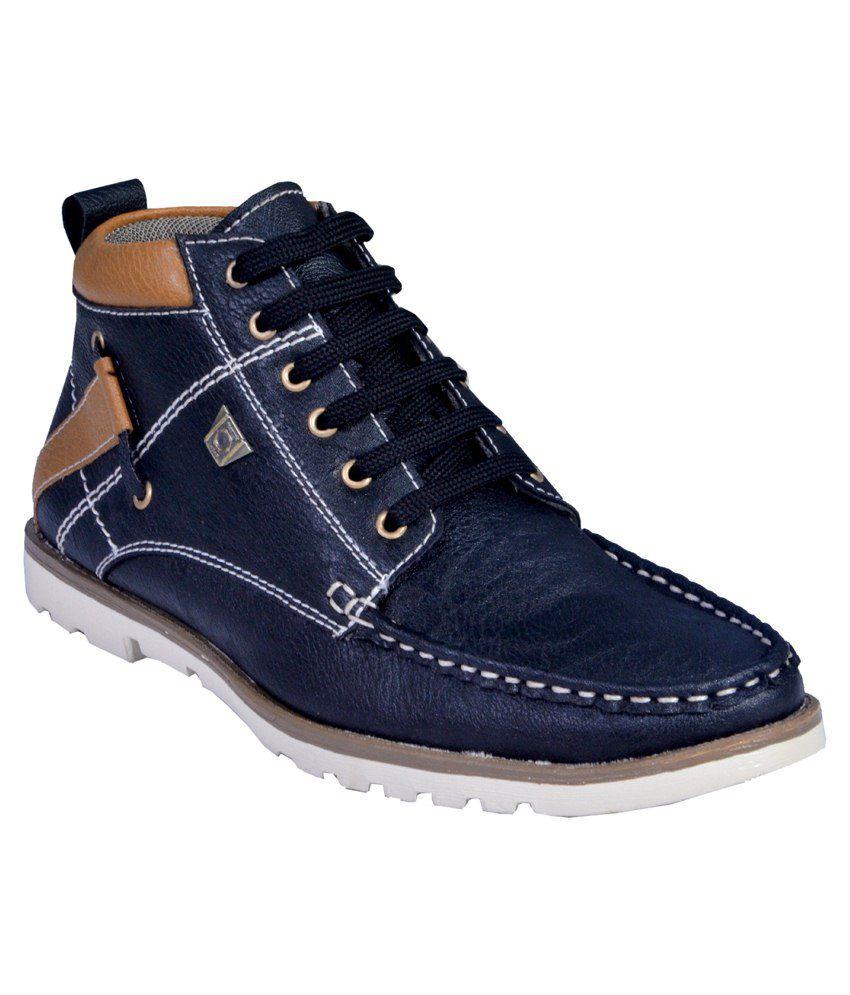 altek black smart casuals shoes
