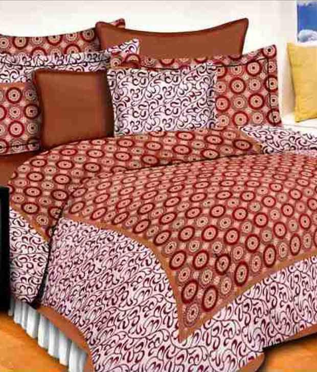 Kismat Collection 100% Cotton Jaipuri UniqStyliner King Size Double BedSheet