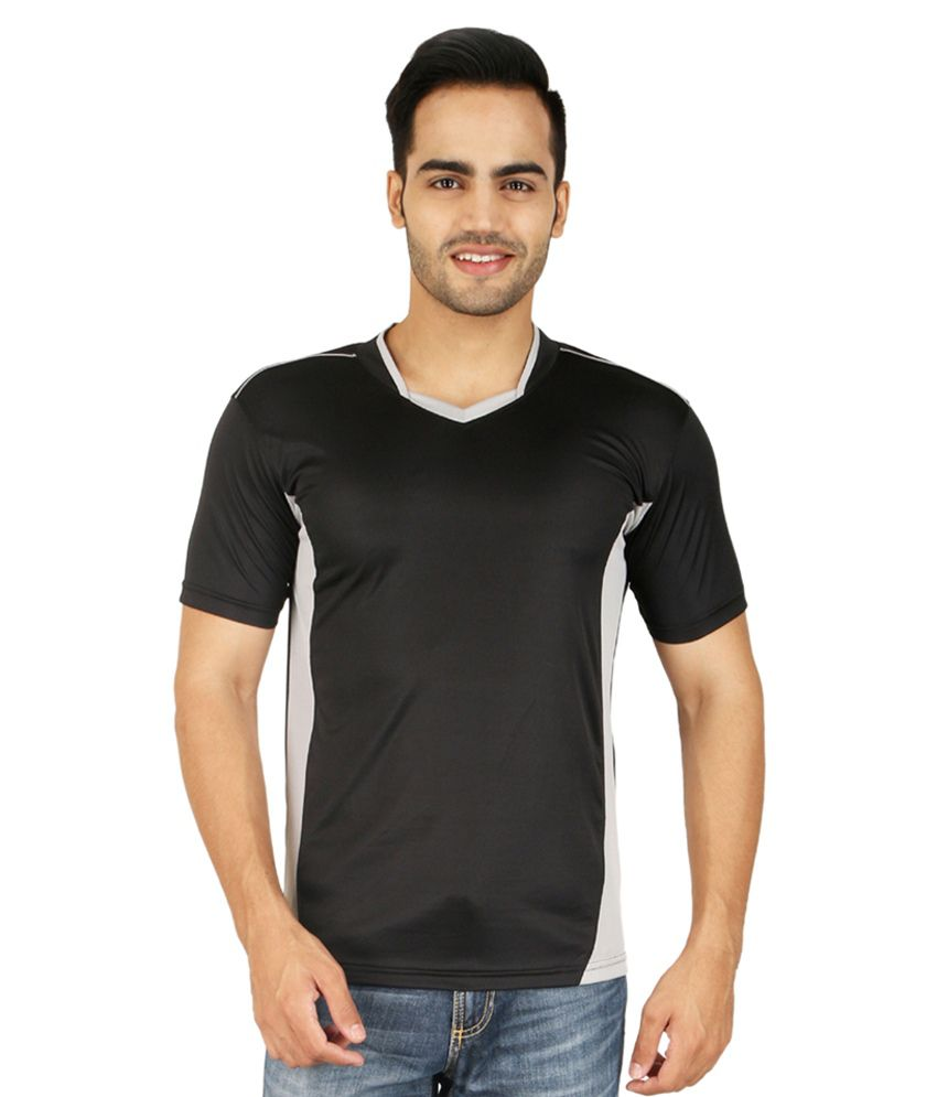 Nimya Black Polyester T Shirt