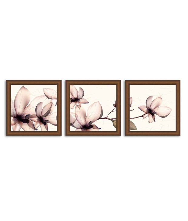 Painting Mantra Textured Floral Painting Set Of 3