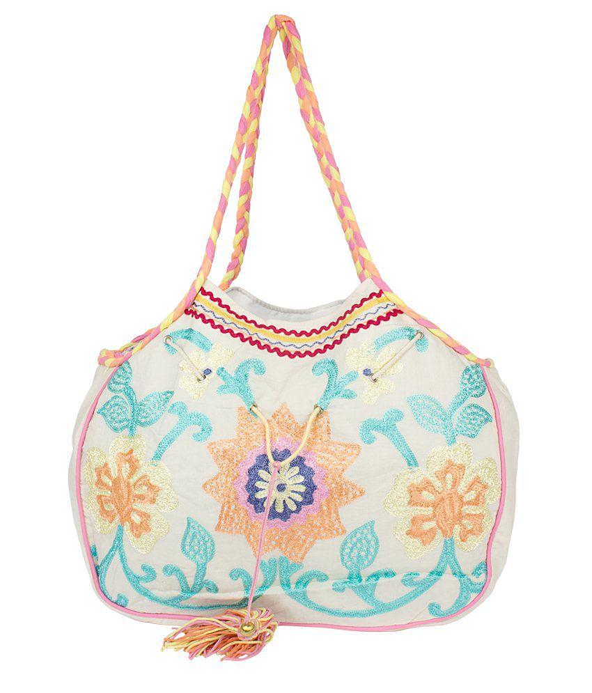 Scarves & Glitters Tote Bag-Multicolour
