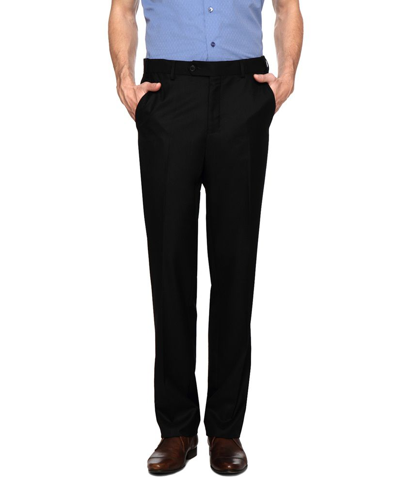 Van Heusen Black Formal Trouser for Men