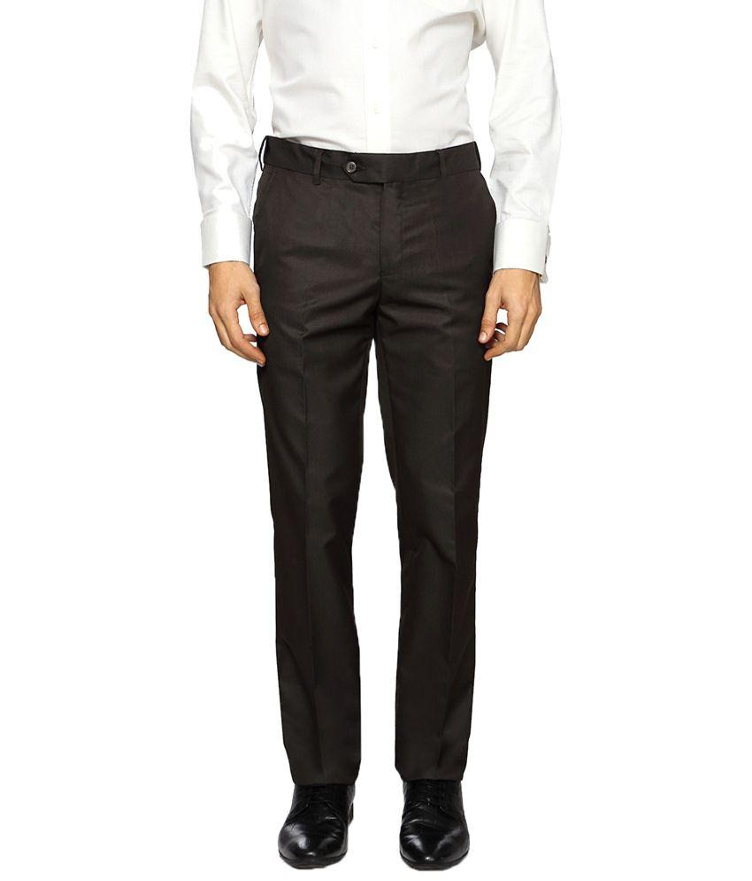 Van Heusen Black Formal Trouser for Men
