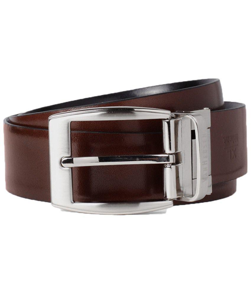 Van Heusen Brown & Black Formal Belt