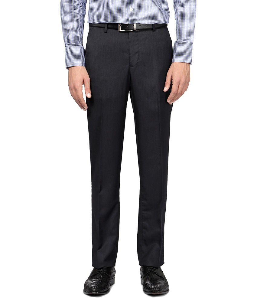 Van Heusen Sober Navy Blue Trouser for Men