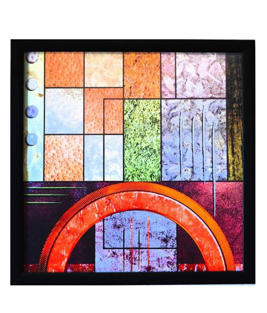 eCraftIndia Abstract Theme Satin Matt Texture Framed UV Art Print