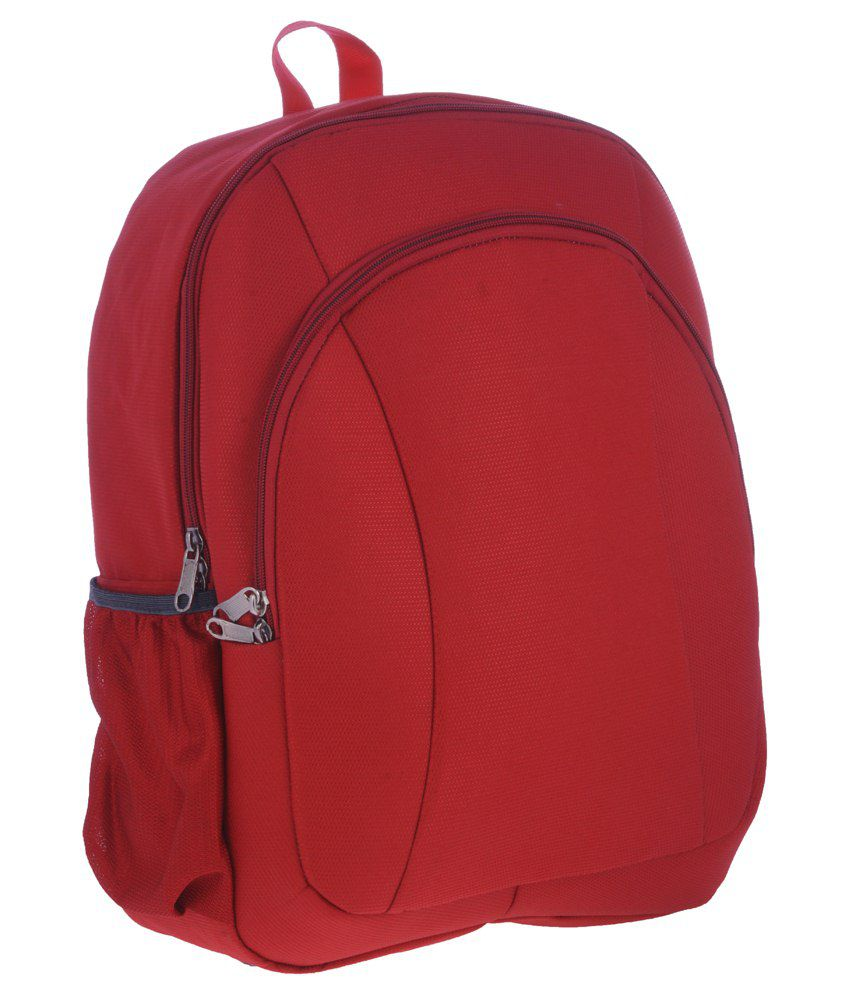 Bags.R.Us Red Polyester Laptop Bag