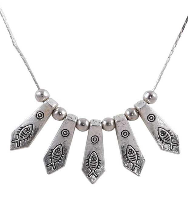 Nirosha Silver Alloy Necklace