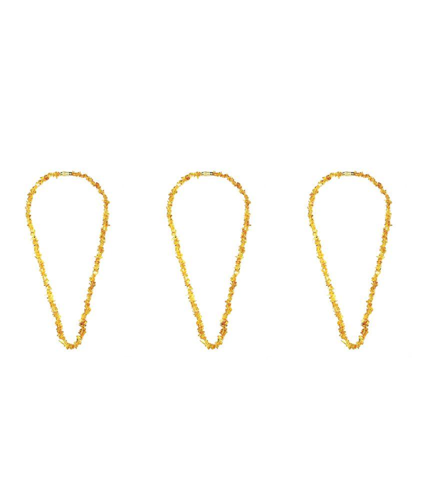 Rainbow Gems Citrine Semi Precious Stone Necklace Fancy 18 inch 3 Pc. Set