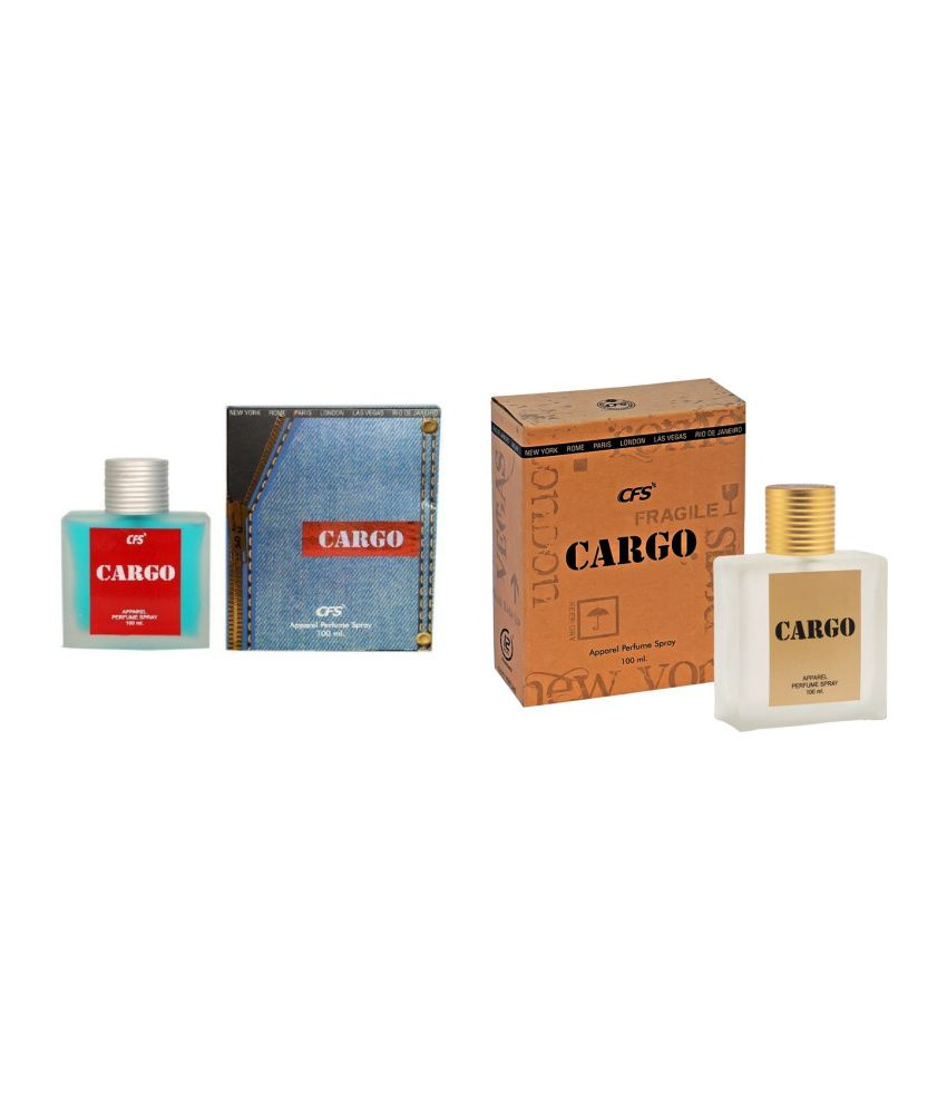 CFS Cargo Blue and Brown Perfume for Men (Pack Of 2)