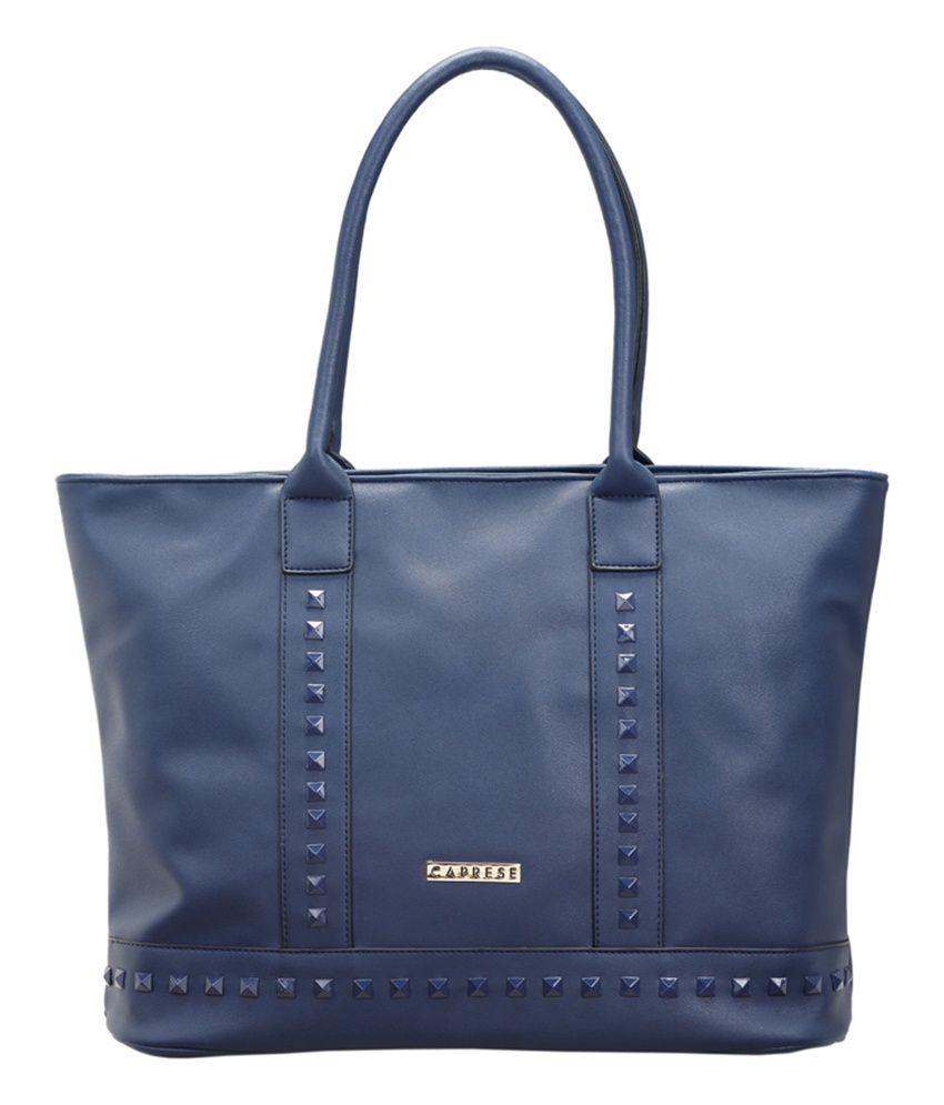 Caprese Rina Navy P.u Large Tote Handbag